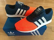 ADIDAS Los Angeles Older Boys Trainers, Navy/Orange