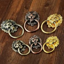 Bronze Lion Head Rings European Antique Furniture Cabinet Drawer Handles Pulls