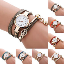 Women's Bracelet Stainless Steel Crystal Diamonds Dial Analog Quartz Wrist Watch