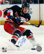 Steiner Michael Del Zotto Signed Skating in Navy Jersey 8x10 Photo