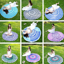 Best Plain Weave Four Season Beach Tapestry IN945 Round Mat Throw Towel Decor