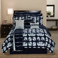 Cute Queen Comforter Sets Kids Tie Dye Reversible King Plaid Blue Casual Bedding