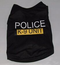 Police  Unisex Pet Clothes Puppy Dog Cat Vest T Shirt Apparel Clothing