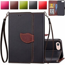 Magnet Folio Wallet Leather Wristlet Case Cover For Apple iPod Touch 5th 6th Gen
