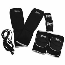 All New Martial Arts Don Shin Insteps Knee Pads Karate Mitts Skipping Rope set