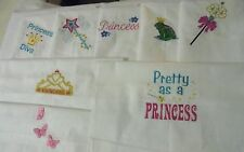 Assorted Embroidered Girl's Theme Quilt Block Sets Mixed Sizes, Colors, Designs
