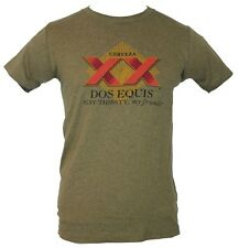 """Dos Equis Beer  Mens T-Shirt -  """"Stay Thirsty My Friends"""" Red  XX Logo"""