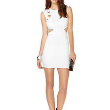 Women Fashion Sleeveless Mini Bodycon Cut Out Evening Party Club Dress Cocktail