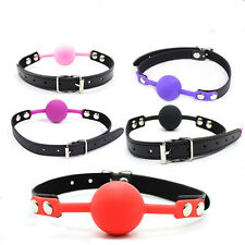 Soft Open Mouth Ball Silicone Gag Ball pu Leather Harness Slave SM Game Toys