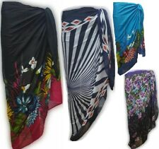 Large FLORAL Sarong Beach Pareo Dress Wrap Swimwear Cover Up Unisex 180 X 100cm