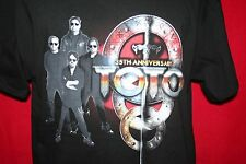 TOTO 35th Anniversary 2014 Concert Tour Dates T-SHIRT L Classic Rock Band NEW