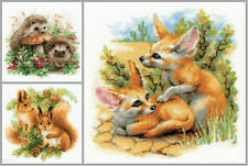 NEW UNOPENED Russian Counted Cross Stitch KIT Riolis Hedgehog Squirrel Fox