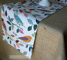 Colorful Vintage Table Runner Home Decor Linens Table Centerpiece Dining Bird