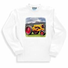 Long Sleeve T-shirt Adult Youth Country Decorative Antique Tractor Yellow Red