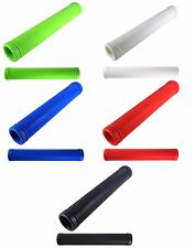 BIKE HANDLEBAR GRIPS RUBBER GRIP COMFORT FIXIE ROAD VINTAGE SINGLESPEED RED BLUE