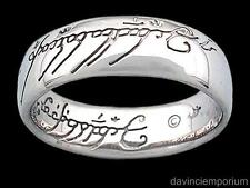 Sterling Silver One Ring of Power Lord of the Rings