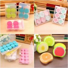 Travel Portable Plastic Contact Lens Case Storage Container Holder Box L&R Set