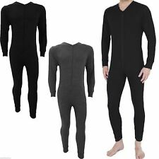 New Mens Thermal suit All In One Underwear Set Zip Up Suit Baselayer Ski S-XXL