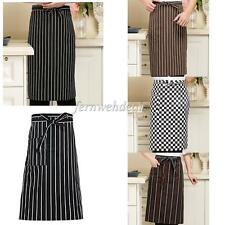 Stripe Long Waist BISTRO Pocket APRON for Bar Cafe Pub Waiter Waitress Barista