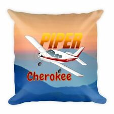 Piper Cherokee PA-28-140 Airplane Throw Pillow Stuffed & Sewn