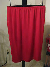 WOMANS RED STRETCH KNIT NO WRINKLE SKIRT TALBOTS PETITE PLUS 2XP $90