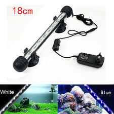 Aquarium Fish Tank LED Light Submersible Waterproof Bar Clip Strip Lamp 18/28cm