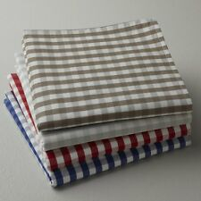 Garden Party Gingham Check 100% Yarn-Dyed Cotton Napkins