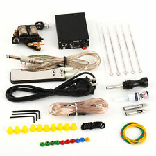 Complete Tattoo Kit Set Equipment Machine Needles Power Supply Gun Color Inks SG