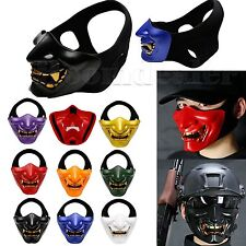 TPU Half Face Mask Helmet for Halloween Cosplay Costume Party Tactical Airsoft