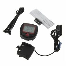Digital Bicycle Bike LCD Cycling Computer Odometer Speedometer Stopwatch New BE