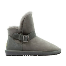 Ugg Boots Sheepskin Buckle Ankle Boot  - AUZLAND BELEN Grey Ladies Size 6-9