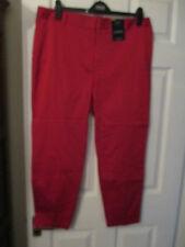 BNWT Ladies M&S 7/8 Trousers Red Sizes 16