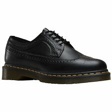 Dr.Martens 3989 5-Eyelet Black Mens Brogue Oxford Shoes Smooth Leather