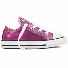 Converse CT All Star Ox Magenta Kids Lace Up Trainers Canvas