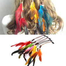 Headdress Indian Feather Hair Ornaments Clip Feathers Tassel Hair Piece TO