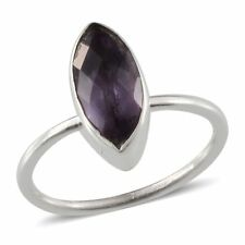 Artisan Crafted Purple AMETHYST Solitaire RING in 925 Sterling Silver 1.80 Cts.