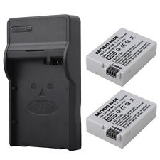 2x LP-E8 Camera Battery + USB Charger For Canon EOS 550D 700D T4i T5i Rebel T2i