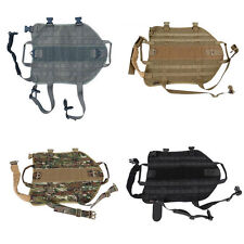 Tactical Outdoor Military Dog Clothes Load Bearing Training Vest Harness BN