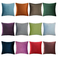 Throw Pillow Cases Home Decorative Cushion Covers Velvet Unicolor Bed 20x20 Inch