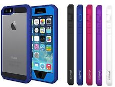 AMZER FULL BODY HYBRID HARD CASE COVER + SCREEN PROTECTOR FOR IPHONE 5 / 5S