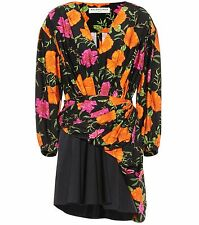 BALENCIAGA 1645$ Authentic New Floral Printed Mini Dress