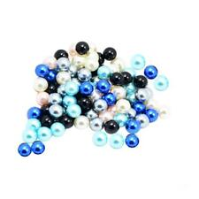100 Pieces Seamless Round Colors Faux Pearl Beads for Hair and Garment