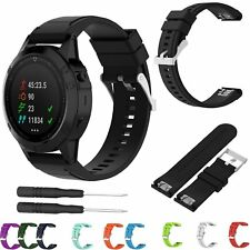 Silicone Quick Release Band Strap + Tools For Garmin Fenix 3 HR 3 Sapphire Watch