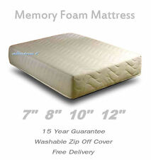 MEMORY FOAM ORTHOPAEDIC MATTRESS +COVER SINGLE DOUBLE KING BED SIZE DEPTH OPTION