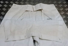 Genuine Vintage East German DDR / NVA White Naval Fatigue / Flap Over Trousers