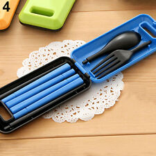 Separable Spoon Fork Chopsticks Plastic Outdoor Eating Portable Cutlery Set Tidy