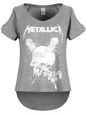 Metallica Damage Inc Heather Drop Shoulder Women's Grey T-Shirt