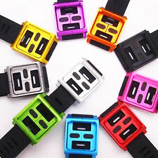 Silicone Wrist Strap Protective Shell Watch Band For iPod Nano 6