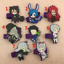 T316 Hot Japan anime Black Butler rubber Keychain Key Ring Rare cosplay