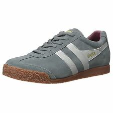 Gola Harrier Graphite Grey Mens Suede Low Profile Casual Sneakers Retro Trainers